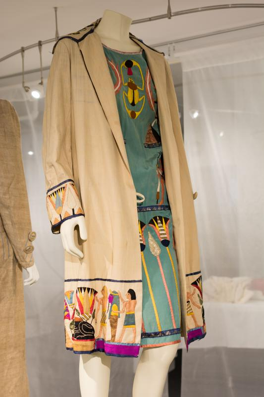 "Duster and dress (1920s), Gift of Margaret ""Peggy"" Destin Elzea, 2008.16.12A-B, Stephens College"