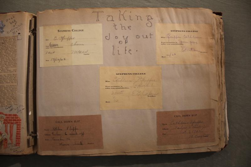 1920s scrapbook from Stephens College Library Archives