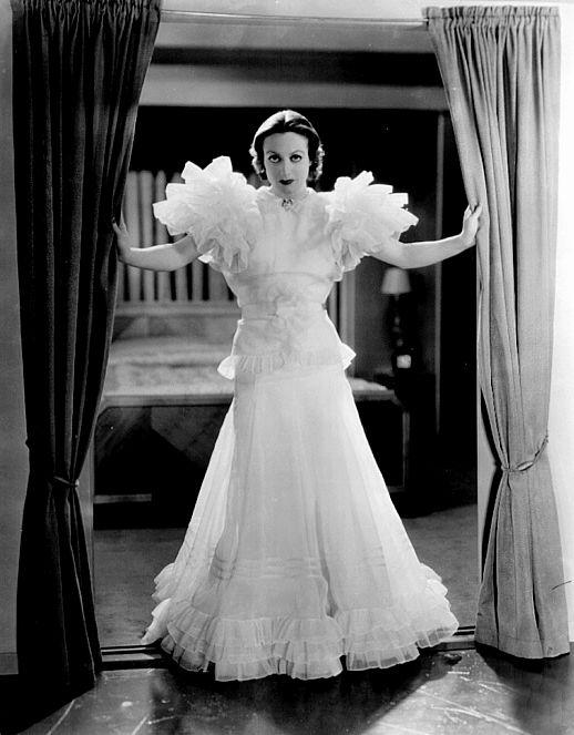 Joan Crawford in Adrian's Letty Lynton gown
