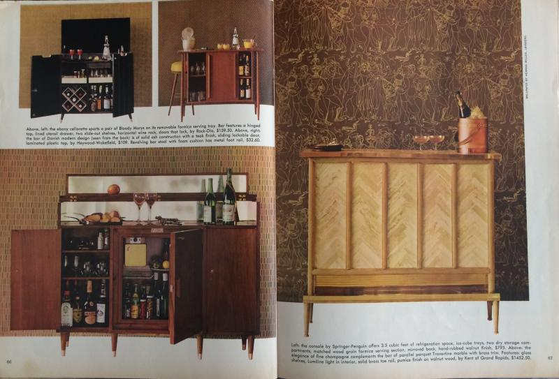 """The Gentleman's Home Bar"" from Playboy, February, 1960 (author's collection)."