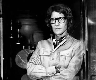 Yves Saint Laurent in his signature safari look