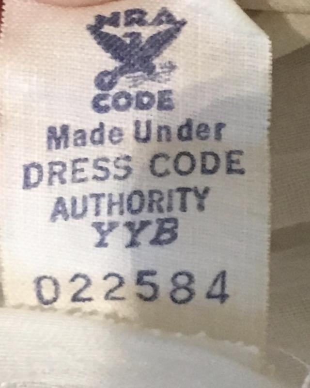 Manufacturer's tag on the Letty Lynton knockoff in the Stephens collection