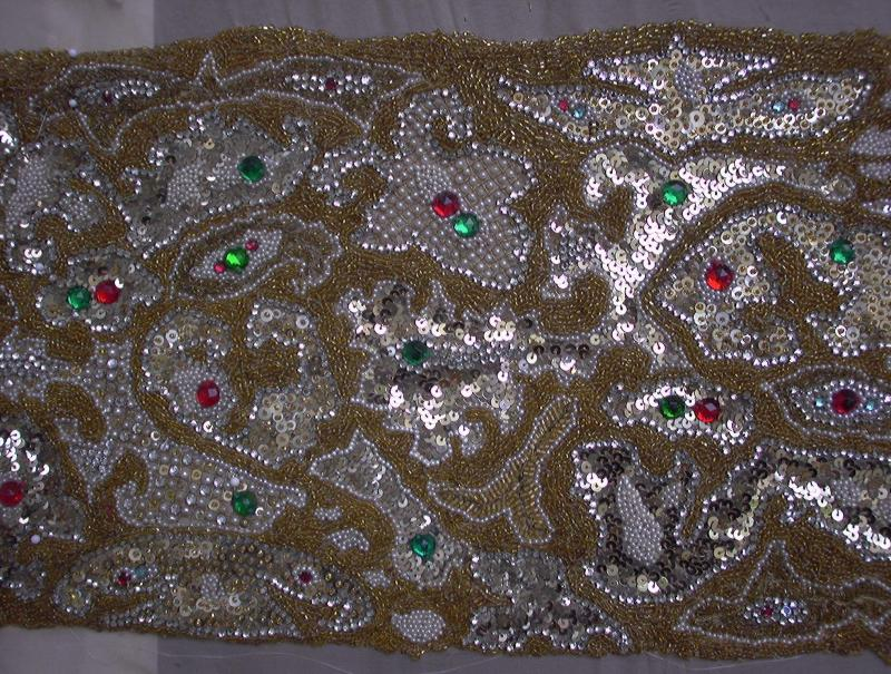 A 2003 closeup photograph of the stole after treatment