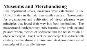 Head Over Heels: Museums and Merchandising
