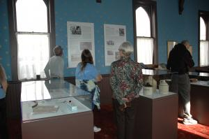 Visitors to the museum on opening day, September 23, 2012.