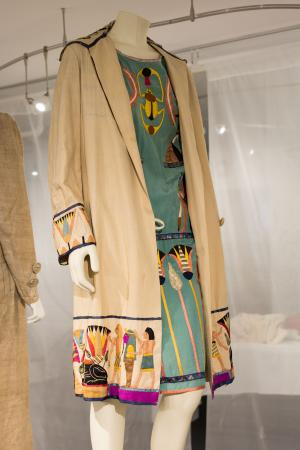 """1920s duster and dress, Gift of Margaret """"Peggy"""" Destin Elzea, 2008.16.12A-B"""