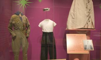 """Duties at the Chicago History Museum included dressing and building mannequins for artifact exhibition. The mannequin at center was built to showcase the attire of a transgendered Chicago adolescent for the """"Coming of Age"""" exhibit (2004)."""